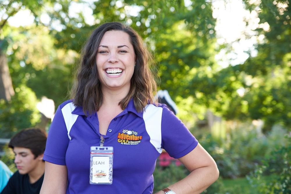 Adventure Golf & Raceway Female Employee Smiling