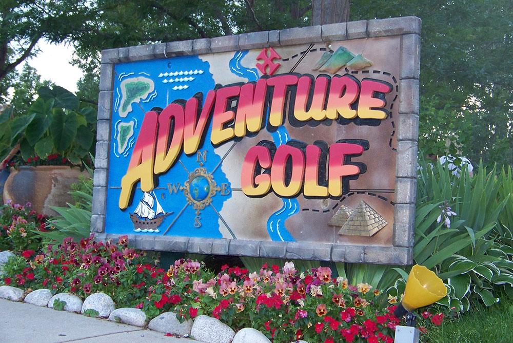 Adventure Golf sign