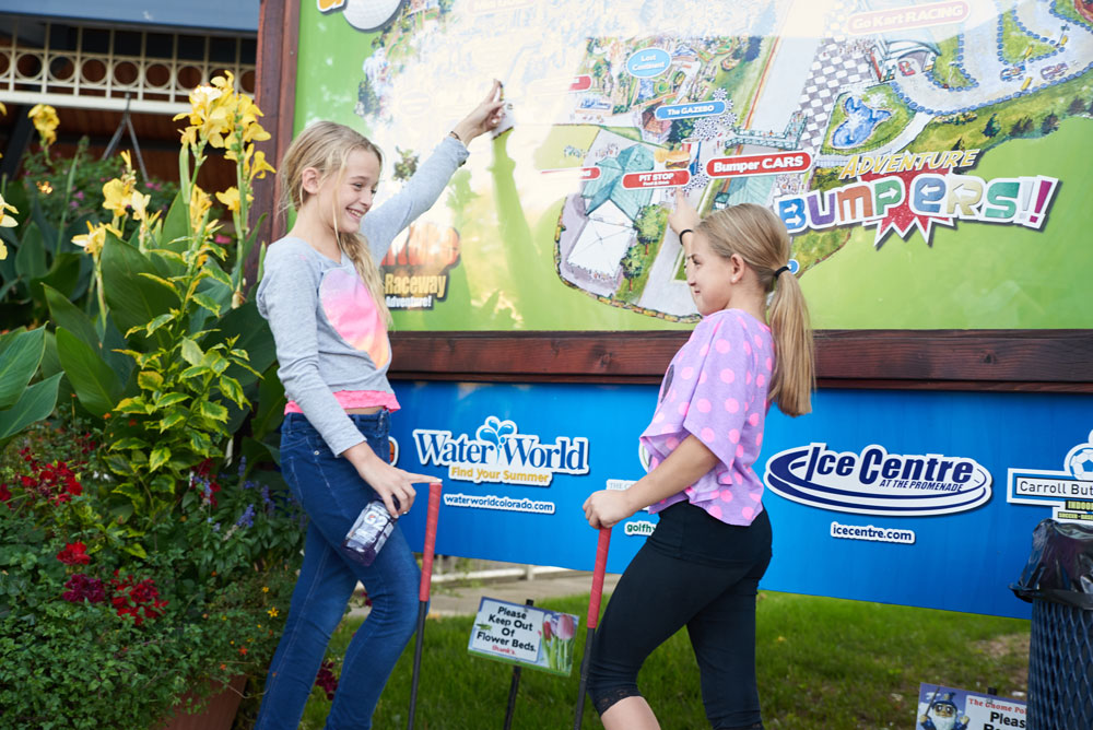 two young girls at the park map