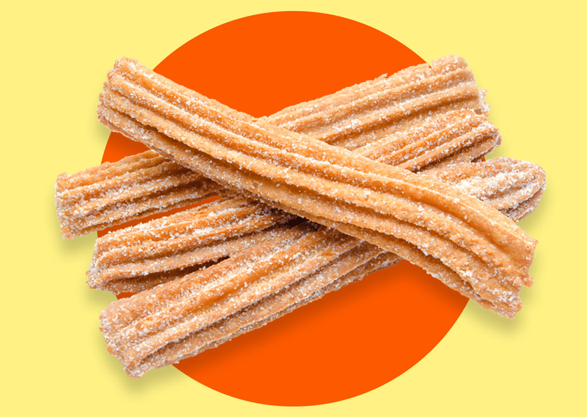 four tasty churros